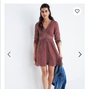 Madewell: starviolet mini dress in ditsy flowers